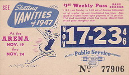 1947 Skating Vanities Ad on a St Louis Bus Pass