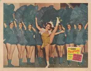 1944 Lobby Card from the film Pin Up Girl which features Gloria Nord and the Skating Vanities