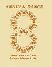 1942 Earl Van Horne Dance & Figure Skating Club Annual Dance Program (Mineola NY)
