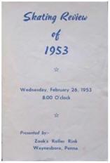 1953 Skating Review Program (Waynesboro PA)