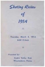 1954 Skating Review Program (Waynesboro PA)