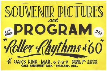 1960 Roller Rythym Souvenir Program (Oaks Rink, Portland OR)