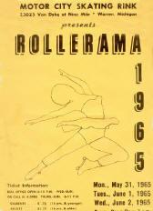 1965 Rollerama Program (Warren MI)