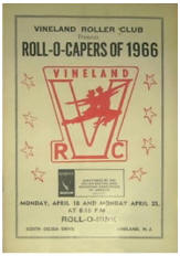 1966 Vineland Roller Club Roll-O-Capers Program (NJ)