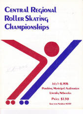 1976 Central Regional Roller Skating Championship Program Cover