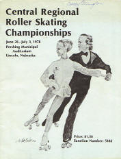 1978 Central Regional Roller Skating Championship Program Cover