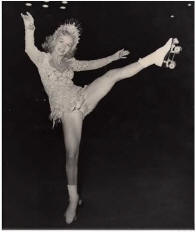 Photo of Gloria Nord from the 1951 Skating Vanities