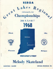 1968 Great Lakes Regional Roller Skating Championship Program