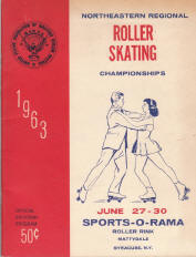 1963 Northeastern Regional Roller Skating Championship Program