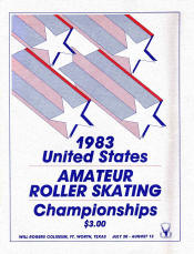 1983 National Roller Skating Championship Program