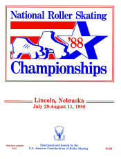 1988 National Roller Skating Championship Program