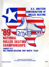 1989 National Roller Skating Championship Program