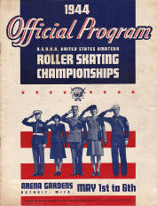 1944 Roller Skating Championship Program Cover