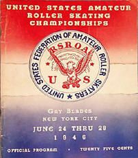 1946 Roller Skating Championship Program Cover