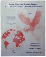 1947 US & World  Roller Skating Championship Program Cover