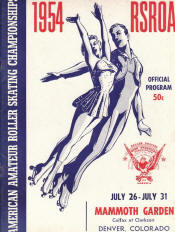 1954 National Roller Skating Championship Program