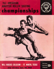 1961 National Roller Skating Championship Program