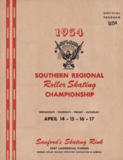 1954 Southern Regional Roller Skating Championship Program