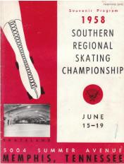 1958 Southern Regional Roller Skating Championship Program