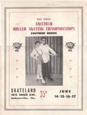 1959 Southern Regional Roller Skating Championship Program