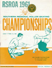 1961 Southern Regional Roller Skating Championship Program