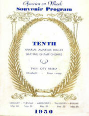 1950 New Jersey Roller Skating Championship Program