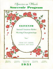 1951 New Jersey Roller Skating Championship Program