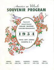 1954 New Jersey Roller Skating Championship Program