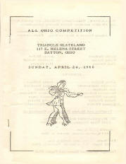 1960 Ohio State Roller Skating Championship Program