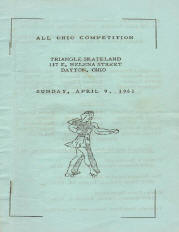 1961 Ohio State Rollerskating Championship Program