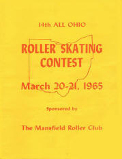 1965 Ohio State Roller Skating Championship Program
