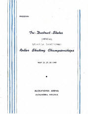 1949 Tri-District Roller Skating Championship Program
