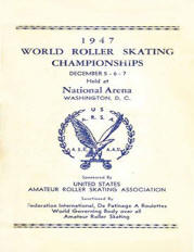 1947 USARSA World Roller Skating Championship Program