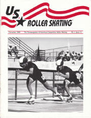 US Roller Skating Magazine  - December 1989