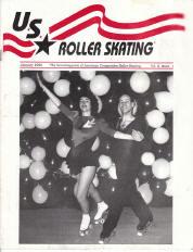 US Roller Skating Magazine  - January 1990