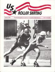 US Roller Skating Magazine  - January 1991