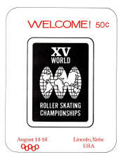 1970 World Roller Skating Championship Program