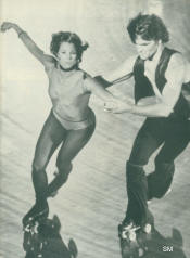April Allen Powell and Patrick Swayze - Skatetown, USA - Cine Revue